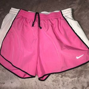 Pink and White Athletic Nike Shorts